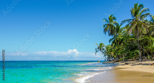 Poster de jardin Caraibes Caribbean beach of Costa Rica close to Puerto Viejo