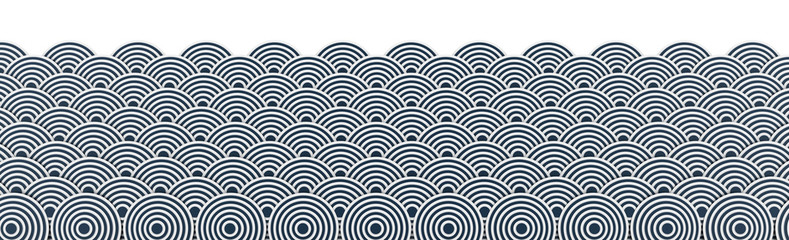 FototapetaJapanese ocean background; 3d illustration graphics, white background.