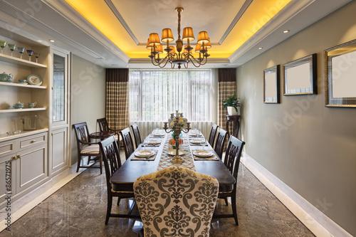 Fotografía luxury dinning room interior