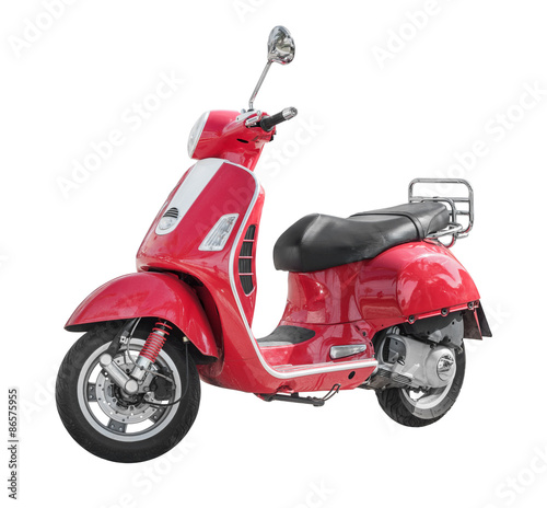 Modern classic scooter isolated on white Wallpaper Mural