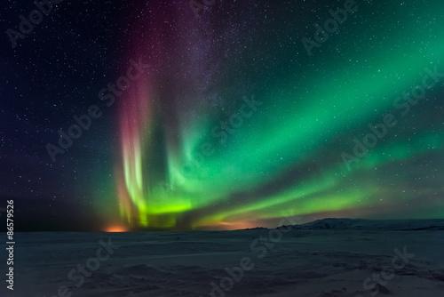 Poster Aurore polaire Aurora borealis, northern lights