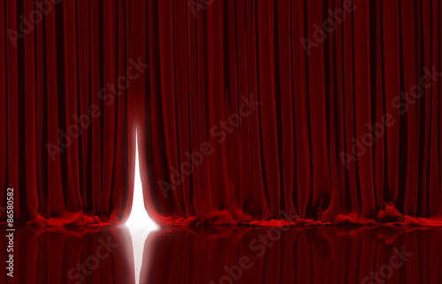Fotomural  Red curtain in theater.