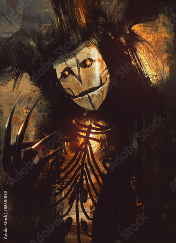 portrait of a dark fantasy character.digital painting.