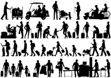 Vector Silhouettes Of People A...