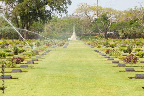 Spoed Fotobehang Begraafplaats graveyard