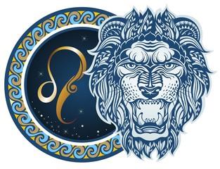 Fototapeta Znaki Zodiaku Zodiac signs - Leo