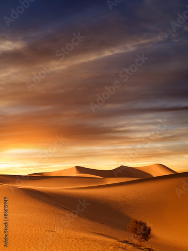 Photo sur Toile Desert de sable sunset dunes