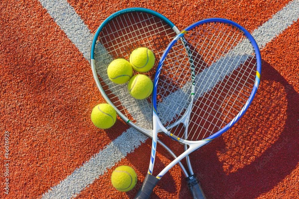 Tennis, Tennis Ball, Fond. Poster
