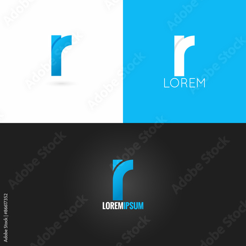 Photo  letter R logo design icon set background