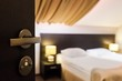 Hotel Room, Hotel, Bedding.