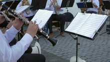 Clarinet Musician Performs With Band