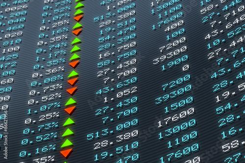Fotografía  Digital Stock exchange panel