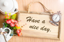 Have A Nice Day Text In Blank ...