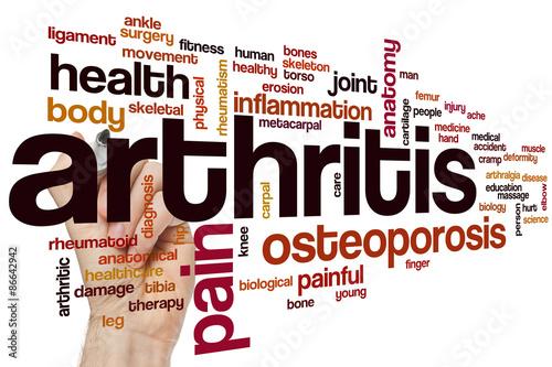 Arthritis word cloud Canvas Print