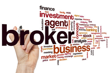 Fototapeta Broker word cloud