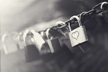 Black And White Padlocks With ...