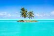 Leinwandbild Motiv Urlaub auf einer einsamen Insel in der Südsee