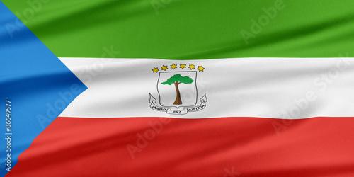 Fotografía  Equatorial Guinea Flag.