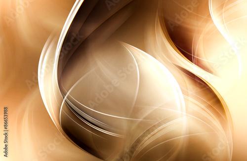 Eleganckie złote nowoczesne fale streszczenie tło