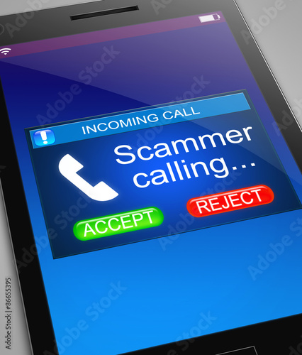 Scam caller concept. Obraz na płótnie