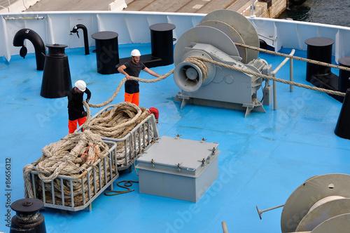 Fotografie, Obraz  équipage de navire