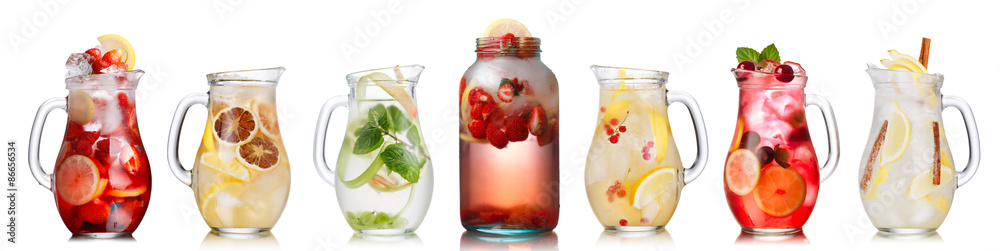 Fototapety, obrazy: Summer drinks collection