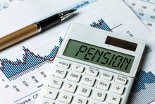 Pension Concept Shown On Calcu...
