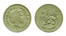 British One Pound Coin Isolate...