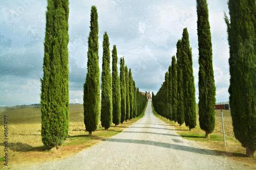 Foto  Tuscan rural landscape