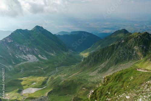 Foto op Plexiglas Turkoois high mountain peaks