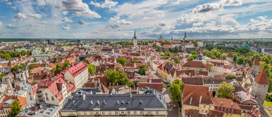 Tallinn Old Town and Upper town, Toompea panorama