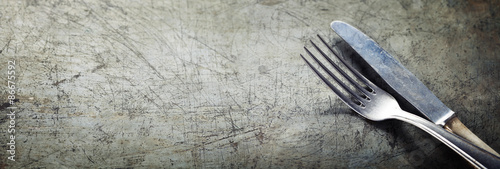 Fotografia, Obraz Dining fork and knife