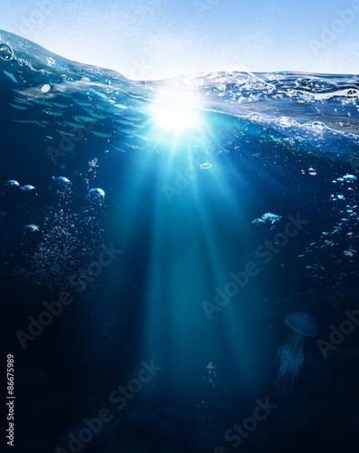 Fotomural Ocean mystery background