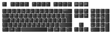 Computer Keyboard, UK Layout, Black Keys