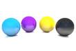 Balls, colored cmyk.