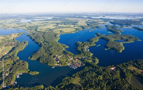 Vue aerienne Aerial view of Mazury