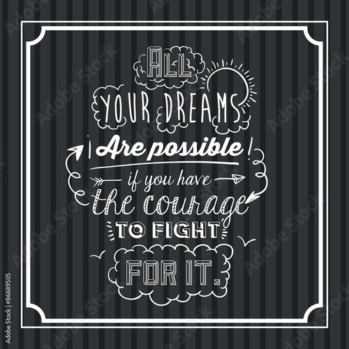 Encourage quotes design Wallpaper Mural