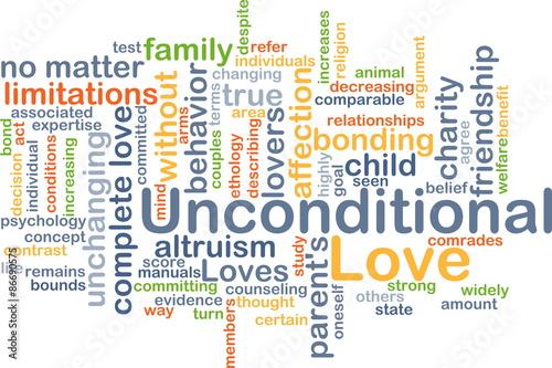 Fotografia, Obraz  Unconditional love background concept