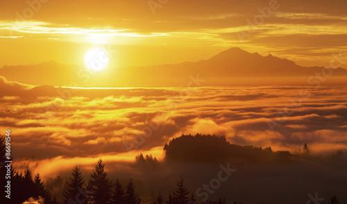 Papiers peints Morning Glory sunrise and Mt. Baker