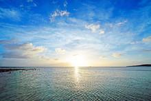 Beautiful Sunset And Clouds, Okinawa, Japan