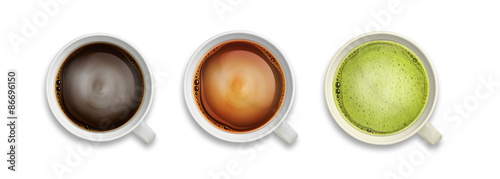 coffee and tea close-up isolated image #86696150