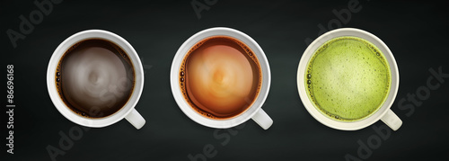 coffee and tea close-up image #86696168