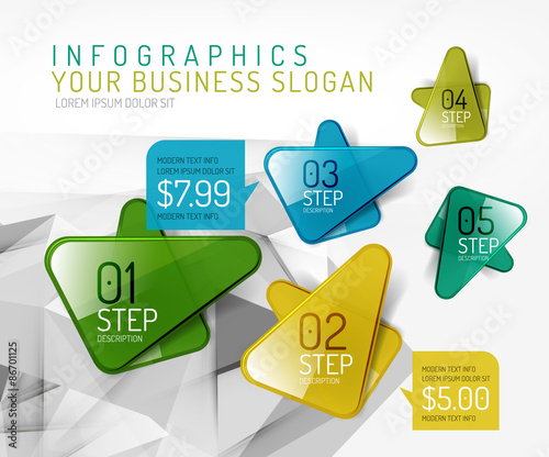 Vector fresh business abstract infographic Wall mural