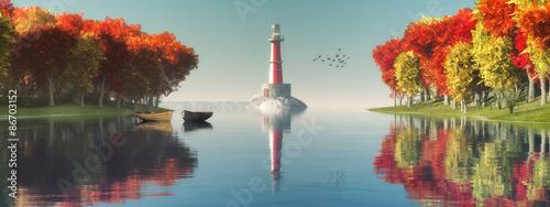In de dag Bomen lighthouse