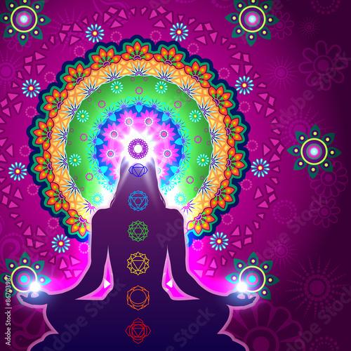 Fotografia  Chakra Meditation Mandala