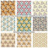 Fototapeta Kuchnia - Set Of Nine Textured Natural Seamless Patterns Backgrounds