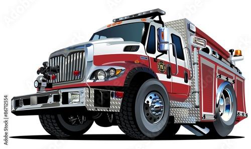 Fotografía Vector Cartoon Fire Truck