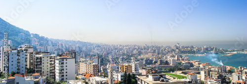 Photo sur Aluminium Moyen-Orient Panoramic view of Beirut, Lebanon capital.