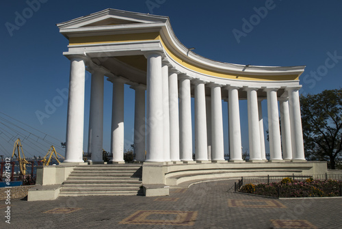 Foto op Plexiglas Artistiek mon. The Colonade of Vorontsov Palace in Odessa