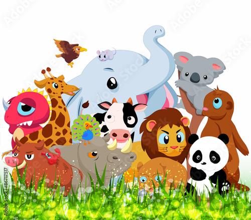 Staande foto Zoo Wild Animals Background